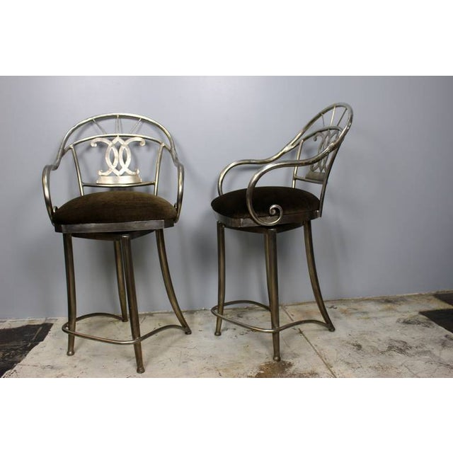 Bar Stools With Swivel Seat - Pair - Image 5 of 5