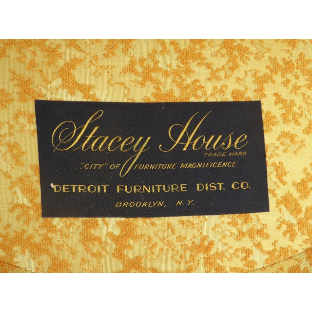 Yellow 1960s Vintage Stacey House Atomic Era Gold Club Chairs - a Pair Mid Century Modern For Sale - Image 8 of 13