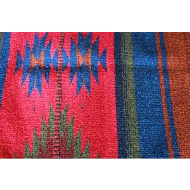 """Mexican Pedal-Loom Red Rug - 2' x 3'3"""" - Image 3 of 4"""