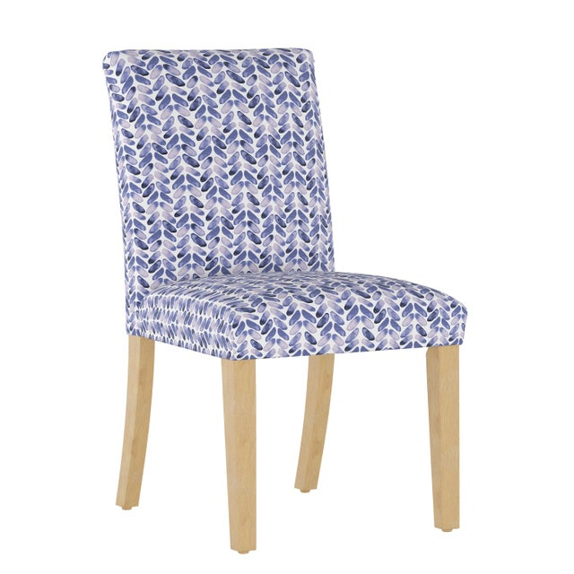 Dining Chair in Cableknit Blue Oga For Sale In Chicago - Image 6 of 7