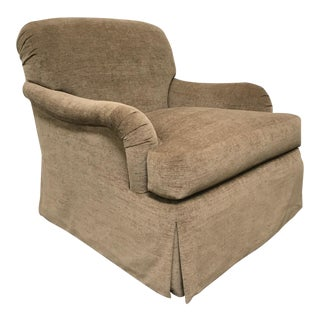 RJones Martin Skirted Swivel Lounge Chair For Sale