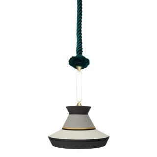 Contardi Calypso Guadalupe Pendant Light in Moss Green and Grey For Sale