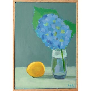 Hydrangea and Lemon by Anne Carrozza Remick For Sale