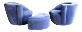 Image of Cornflower Blue Club Chairs