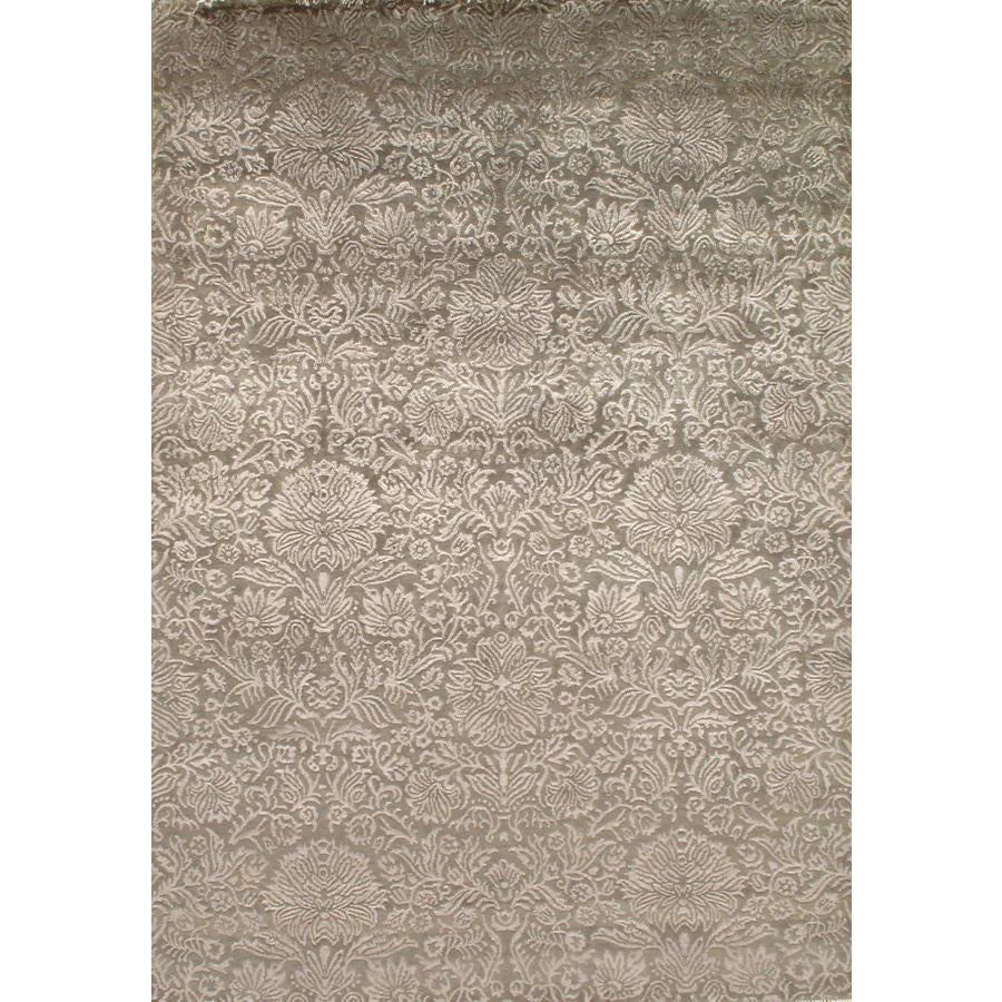 Damask Tabriz Silk and Wool Area Rug