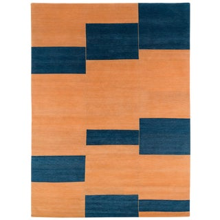 """Contemporary 'Terrain' Wool Rug-9'x12"""" For Sale"""