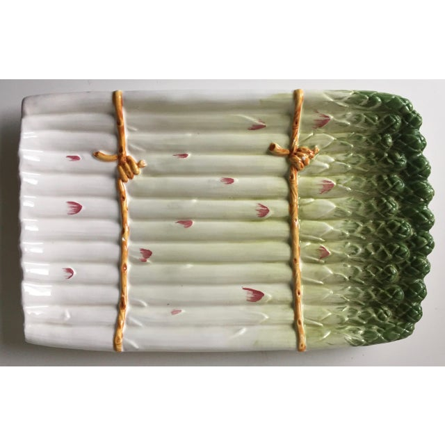 Italian Faience Asparagus Dish & Platter For Sale In New York - Image 6 of 13