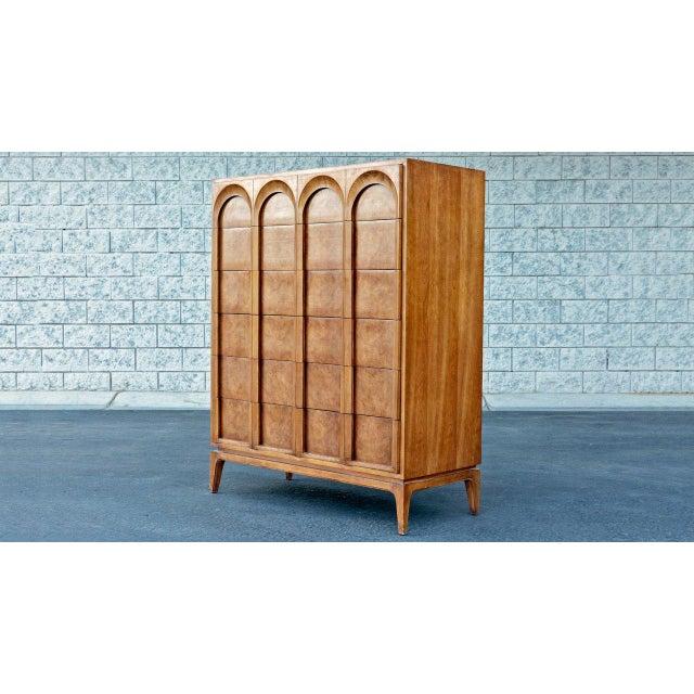 Thomasville 1960s Mid Century Modern Thomasville Tallboy Dresser For Sale - Image 4 of 4