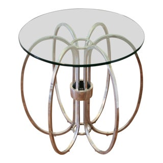 Milo Baughman Chrome Ring Side Table
