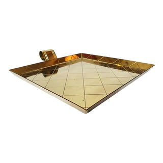 1950s Tommi Parzinger Hollywood Regency Brass Tray For Sale