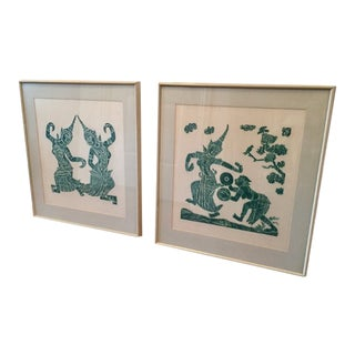 20th Century Chinoiserie Framed Prints - a Pair For Sale