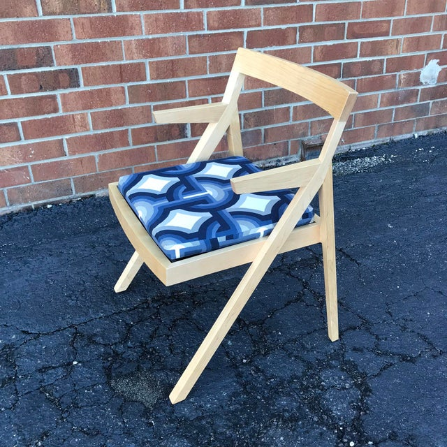 Minimalist Modern Custom Side Chairs - a Pair For Sale In Raleigh - Image 6 of 9
