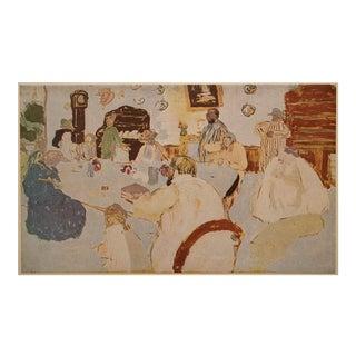 """1948 After Édouard Vuillard """"Family Lunch"""" Vintage Parisian Print For Sale"""