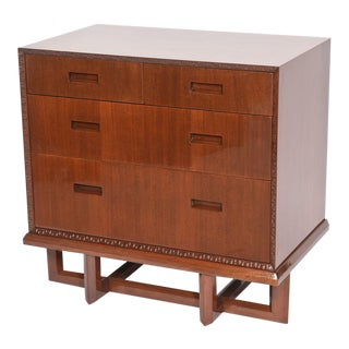 Rare Pair of Frank Lloyd Wright Mahogany Chests, Taliesin Collection For Sale