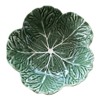 Bordallo Pinheiro Majolica Cabbage Bowl For Sale