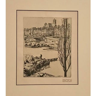 1890s Original Vintage Parisian Cityscape, Saint German For Sale