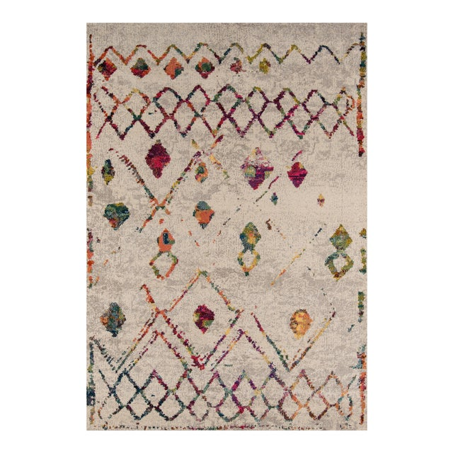 "Contemporary Momeni Casa Polypropylene Beige Area Rug - 5'3"" X 7'6"" For Sale"