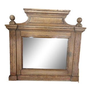 19th Century French Oak Mirror For Sale