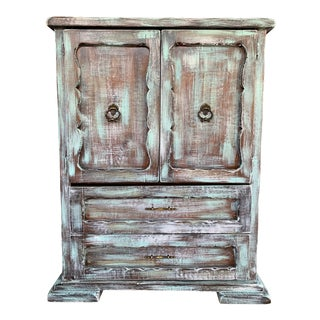 1930s Antique Rustic Armoire For Sale