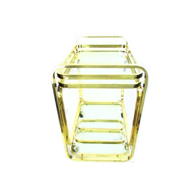 Milo Baughman Brass Bar Cart - Image 5 of 7