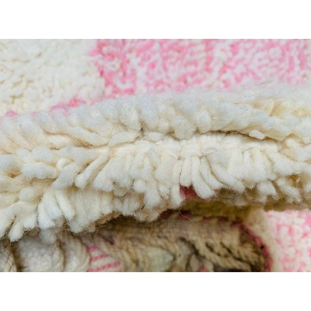 1980s Pink Moroccan Rug - 9′10″ × 13′3″ For Sale - Image 5 of 11