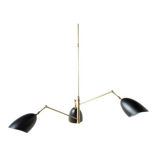 Simone Antique Brass Finish Chandelier For Sale