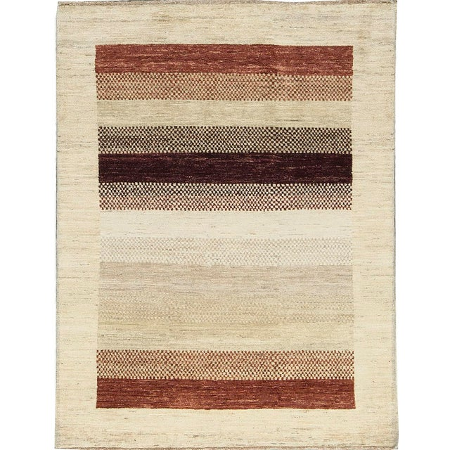 Contemporary Hand Woven Rug - 4'2 X 5'7 For Sale - Image 4 of 4