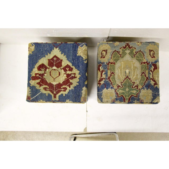 2010s Antique Persian Waterfall Stools, Pair For Sale - Image 5 of 8