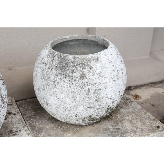 Mid-Century French Cast Stone Sphere Planter Trio For Sale In Houston - Image 6 of 11