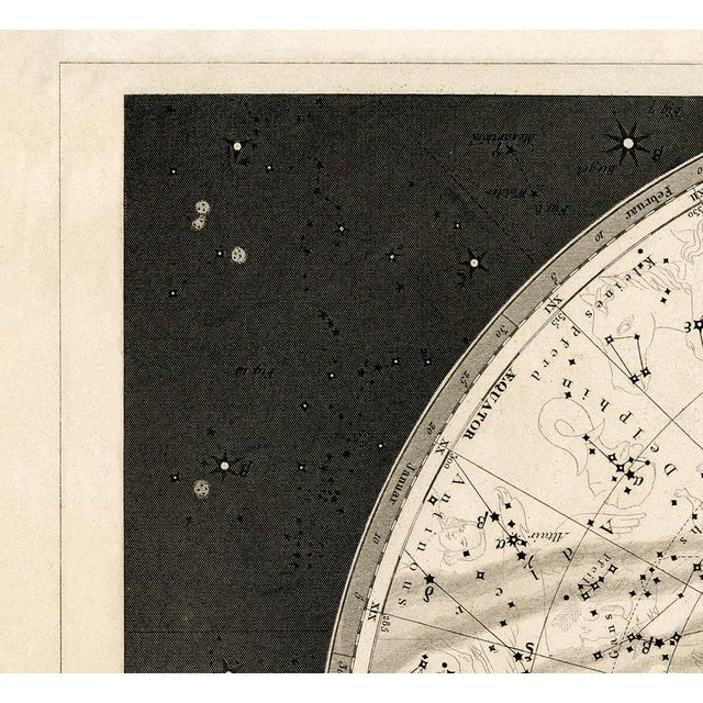 Boho Chic 19th Century Celestial Map Framed Print For Sale - Image 3 of 7