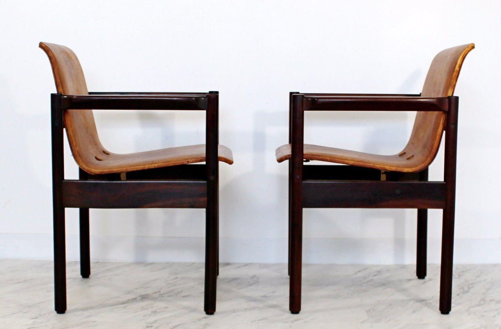 For Your Consideration Is A Fantastic Pair Of Rosewood Armchairs, With  Perfectly Distressed And The. Mid Century Modern ...