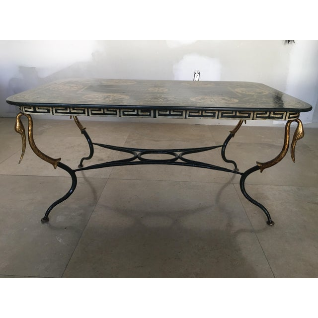 1960s 1960s Mediterranean Swan Coffee Table For Sale - Image 5 of 5