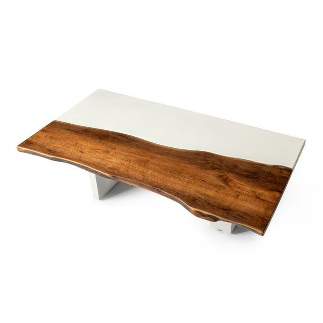 Organic Modern Live Edge Coffee Table For Sale - Image 4 of 5