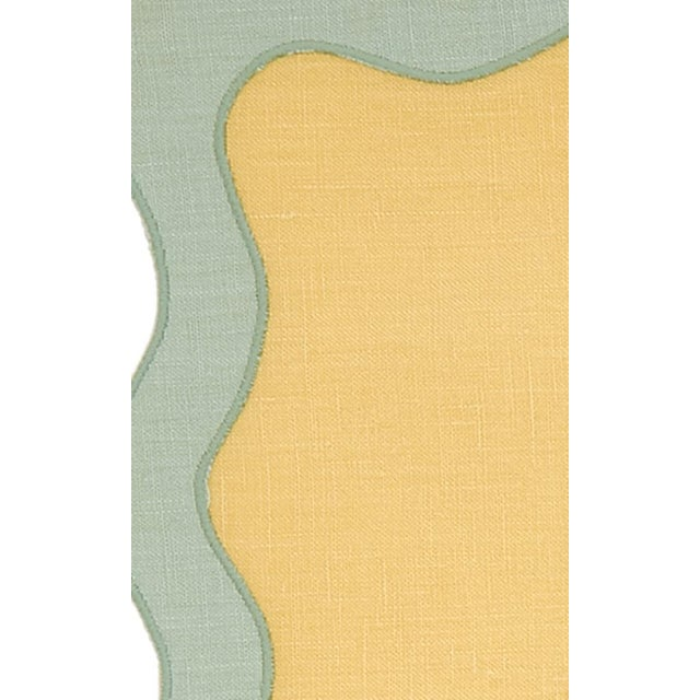Moda Domus x Chairish Exclusive Scalloped Linen Placemat + Napkin Colorblock Set For Sale In New York - Image 6 of 9