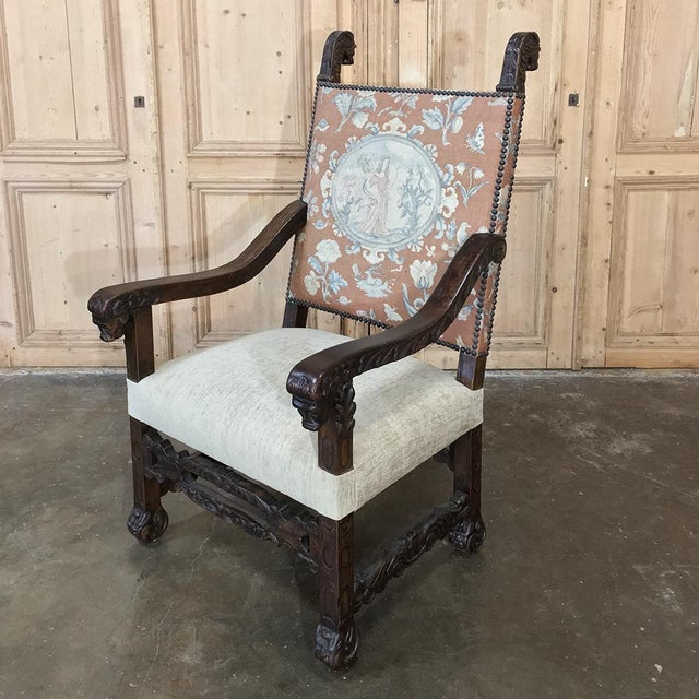 19th Century Spanish Armchair With Needlepoint Tapestry For Sale - Image 10 of 10