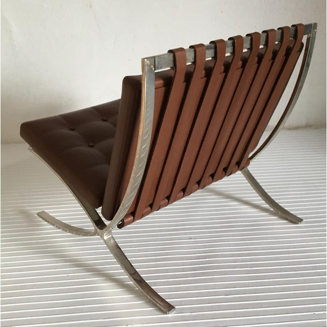 Miniature Vitra Design Museum Mr 90 Barcelona Chair Replica For Sale In New York - Image 6 of 10