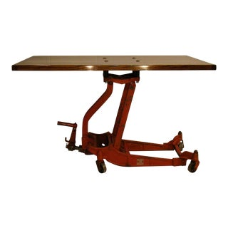 Articulating Butcherblock Coffee Table/Dining Table For Sale