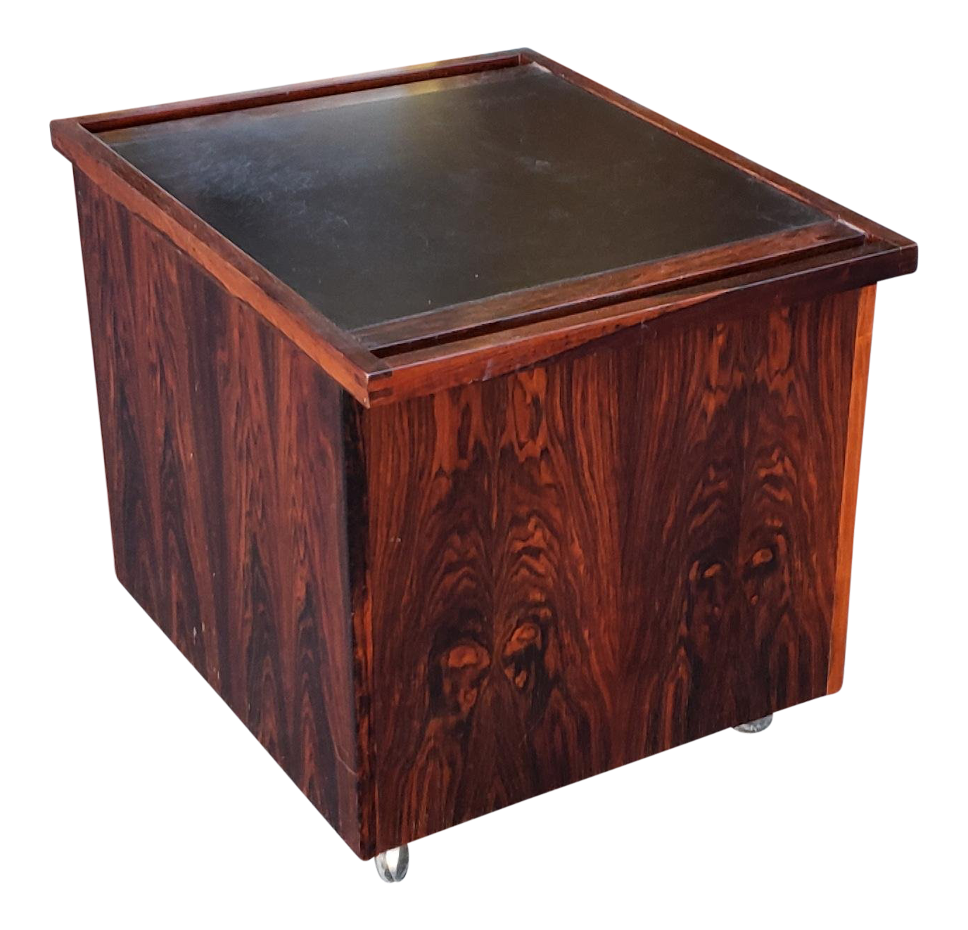 Great 1960s rosewood danish modern furniture makers control pop up bar cabinet table cart chairish