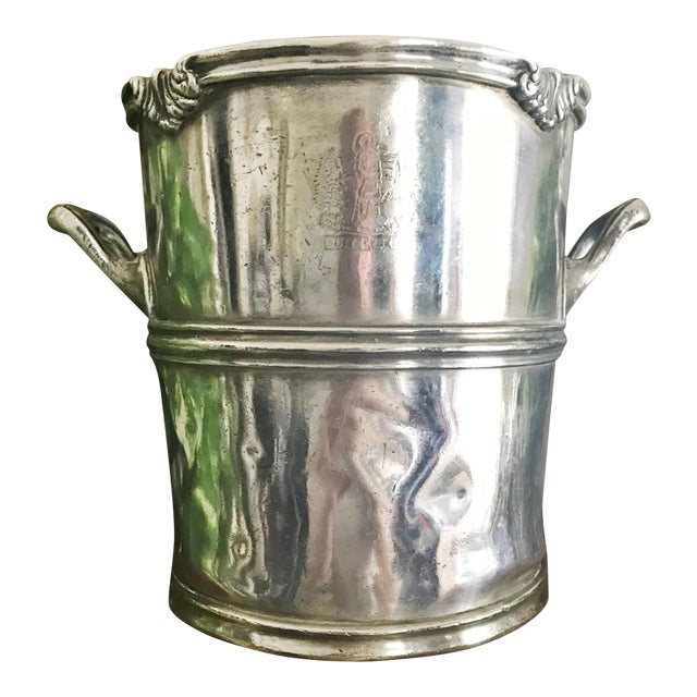 1920s Vintage Silver Champagne Bucket From the Hotel Utica For Sale