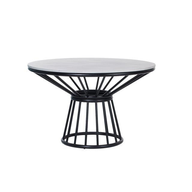 David Francis Aura Table Base With Glass For Sale