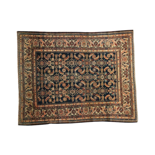 "Vintage Malayer Square Rug - 5' x 6'2"" - Image 1 of 9"