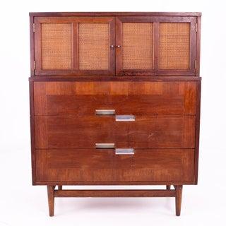Mid Century Merton Gershun for American of Martinsville X Inlay Walnut 9 Drawer Dresser Preview