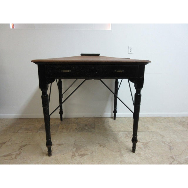 Antique Victorian Primitive Slant Top Plantation Writing Desk For Sale - Image 11 of 11