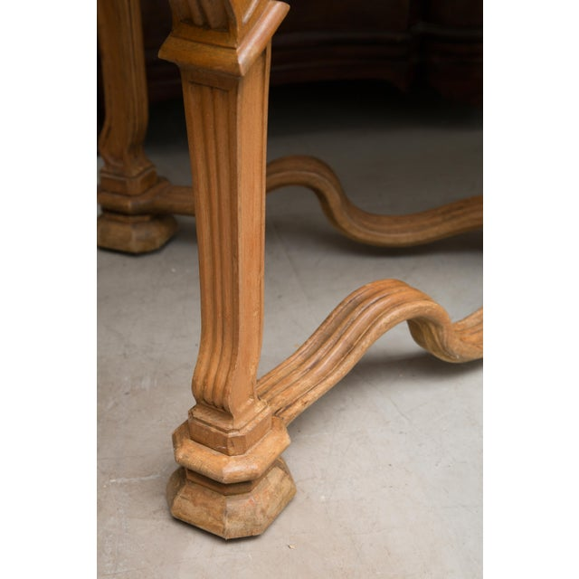 White Italian Beechwood Console / Center Table With Marble Top For Sale - Image 8 of 13