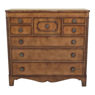 Baker Large Country Style Chest of Drawers Dresser For Sale
