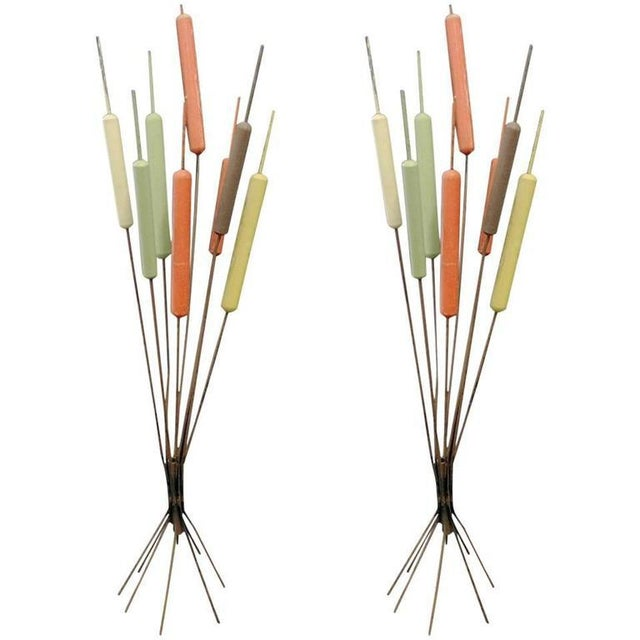 Mid-Century Modern Pair of Mid-century Cat Tail Sculptures For Sale - Image 3 of 3