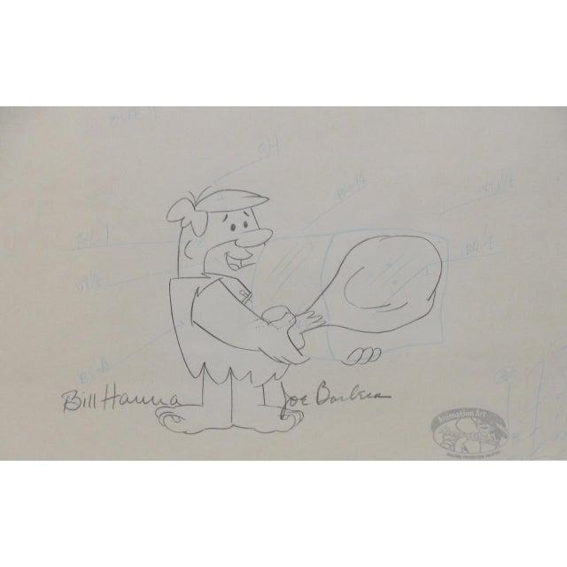 Illustration Barney Rubble - Original Animation Art Signed by Hanna & Barbera C.1993 For Sale - Image 3 of 10