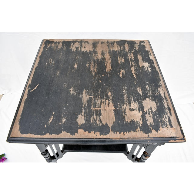 Gothic Vintage Carved Leg Wood Library Table For Sale - Image 3 of 5