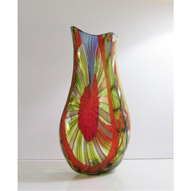 Gianluca Vidal Murano Glass Vase Chairish
