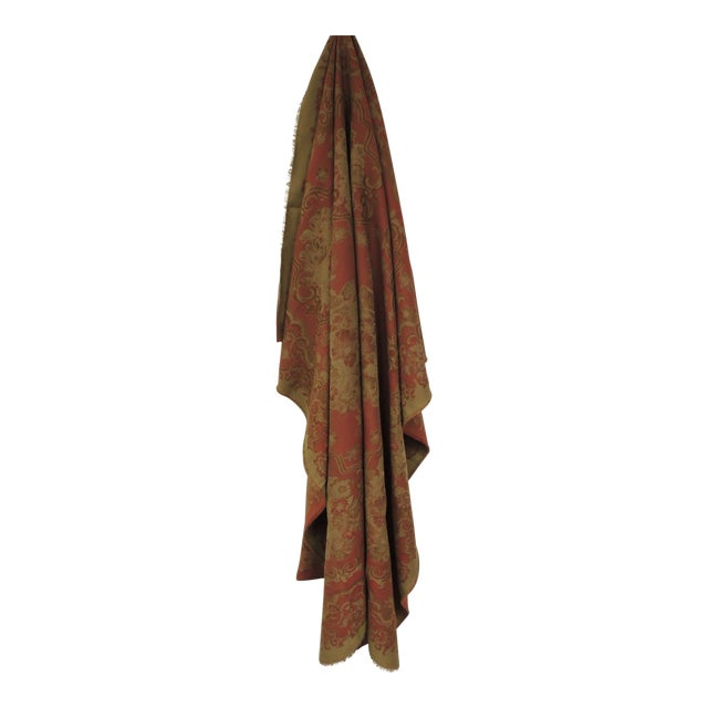 Mulberry Woven Dusty Rose Floral Throw For Sale